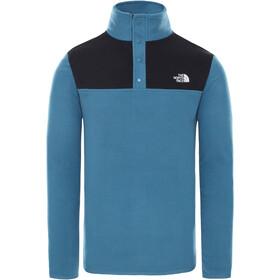 The North Face Tka Glacier Suéter Cuello Botones Hombre, mallard blue/TNF black